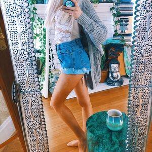 Pants - High Waisted Boyfriend Denim Shorts ✨ A100